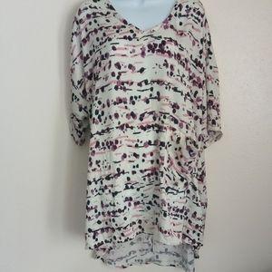 Melissa McCarthy seven 7 shirt sleeve front pocket